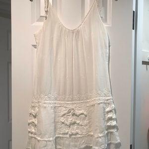 Calypso white boho dress